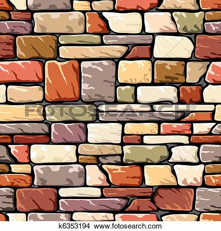 Clipart of color stone wall k6353194.