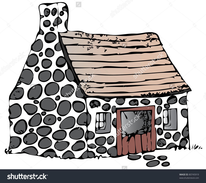 Stone cottages clipart #15