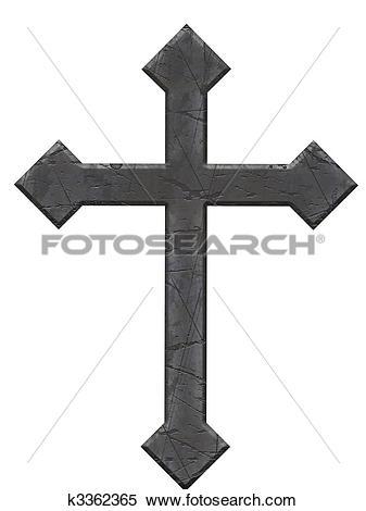 Stock Illustration of Stone Cross k3362365.