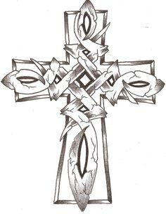 Celtic Cross Tattoo Idea.