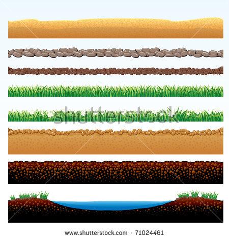 Ground Cutaway Desert Grass Elements Vector Stock Vector 81147157.