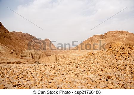 Pictures of Stone desert in Israel.
