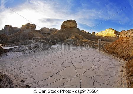 Stock Photo of Stone desert on the Dead Sea..