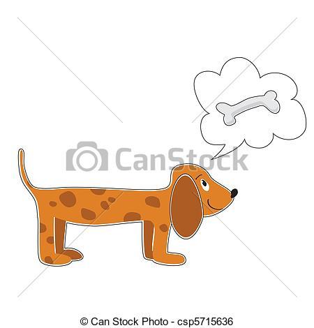 Clip Art Vector of dog.