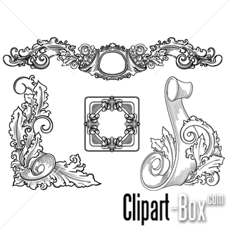 CLIPART ENGRAVED STONE ORNAMENTS.