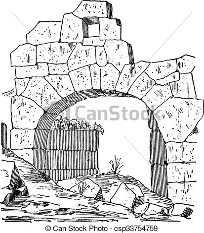 Clipart Vector of Construction of a fortification door made of.