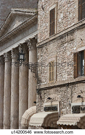 Stock Images of View of Roman Temple of Minerva in Piazza del.