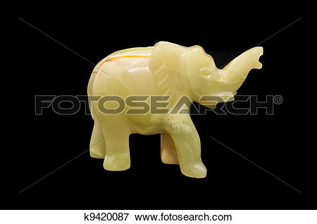 Picture of Stone figure of an elephant k9420087.