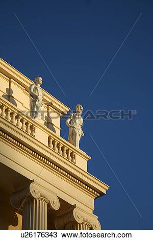 Stock Photo of England, London, Regent's Park. Stone figures on.