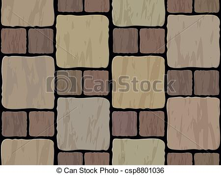 Clip Art Vector of stone tile seamless background.