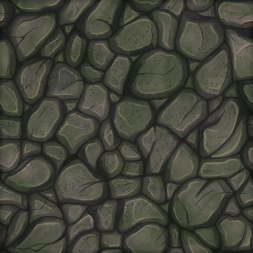 Handpainted Stone Floor Texture.