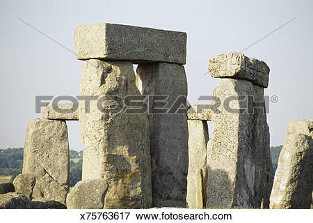 Picture of Stone Henge, england, ancient rock formations x75763617.