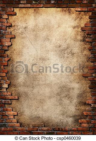 Stock Illustration of Brick wall grungy frame.