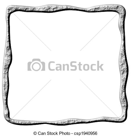 Stock Illustration of 3D Abstract Stone Frame.