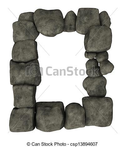 Stone Border Clipart.
