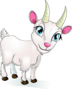 cartoon goat.
