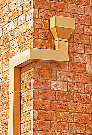 Brick Wall Rain Gutter Stock Photos, Images, & Pictures.
