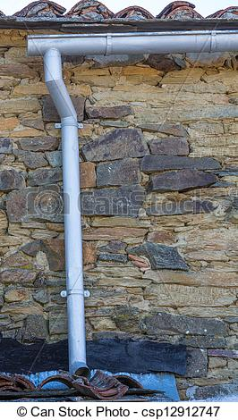 Stock Photo of old gutter.