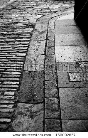Old Stone Street Gutter Edinburgh Stock Photo 150092657.