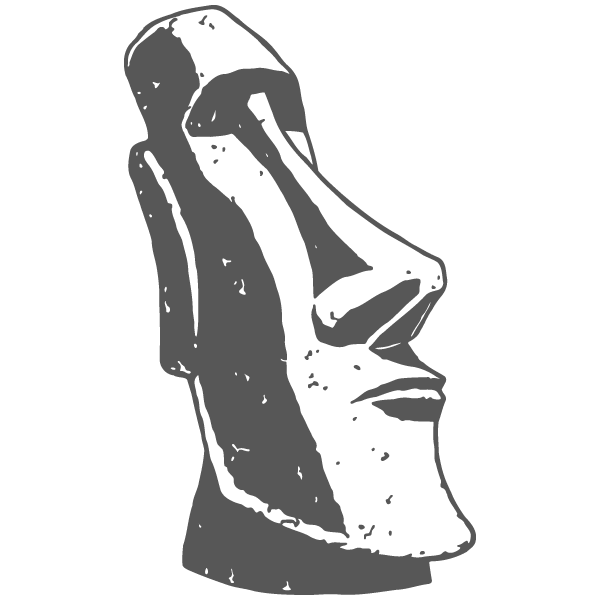 Easter Island Head Black And White Clipart.