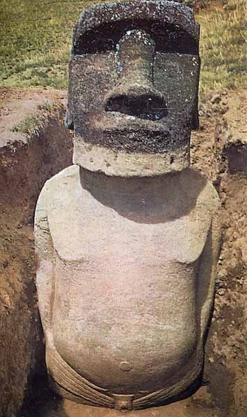 Apparently Easter Island's Heads Have Bodies.