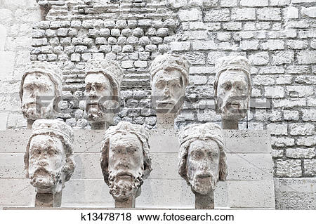 Pictures of Stone heads from Notre.