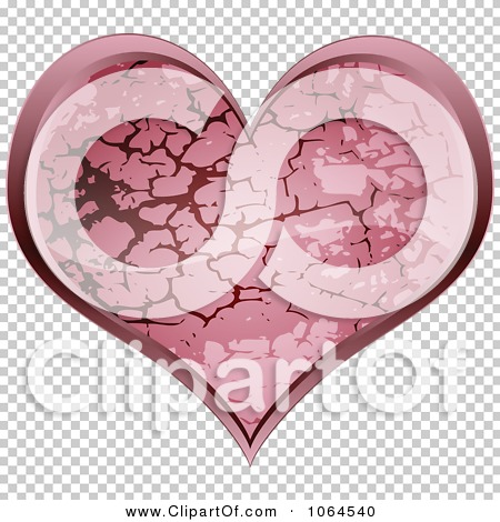 Clipart Pink Stone Heart.