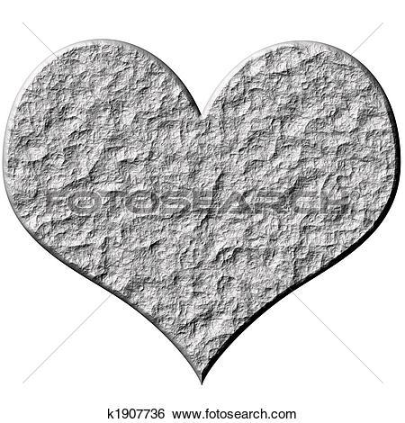 Stock Illustration of 3D Stone Heart k1907736.