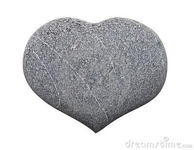 Stone Heart Stock Photo.