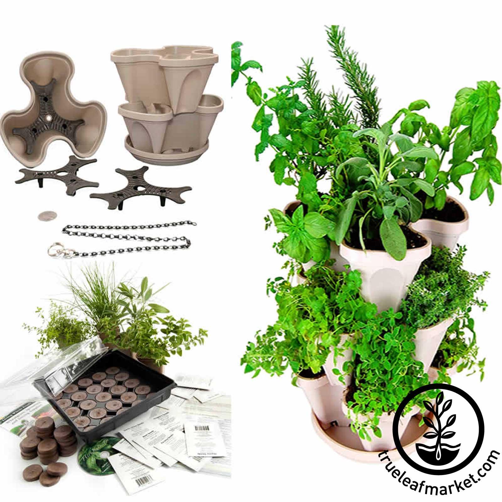 Garden Stacker with The Indoor Medicinal Herb Garden.