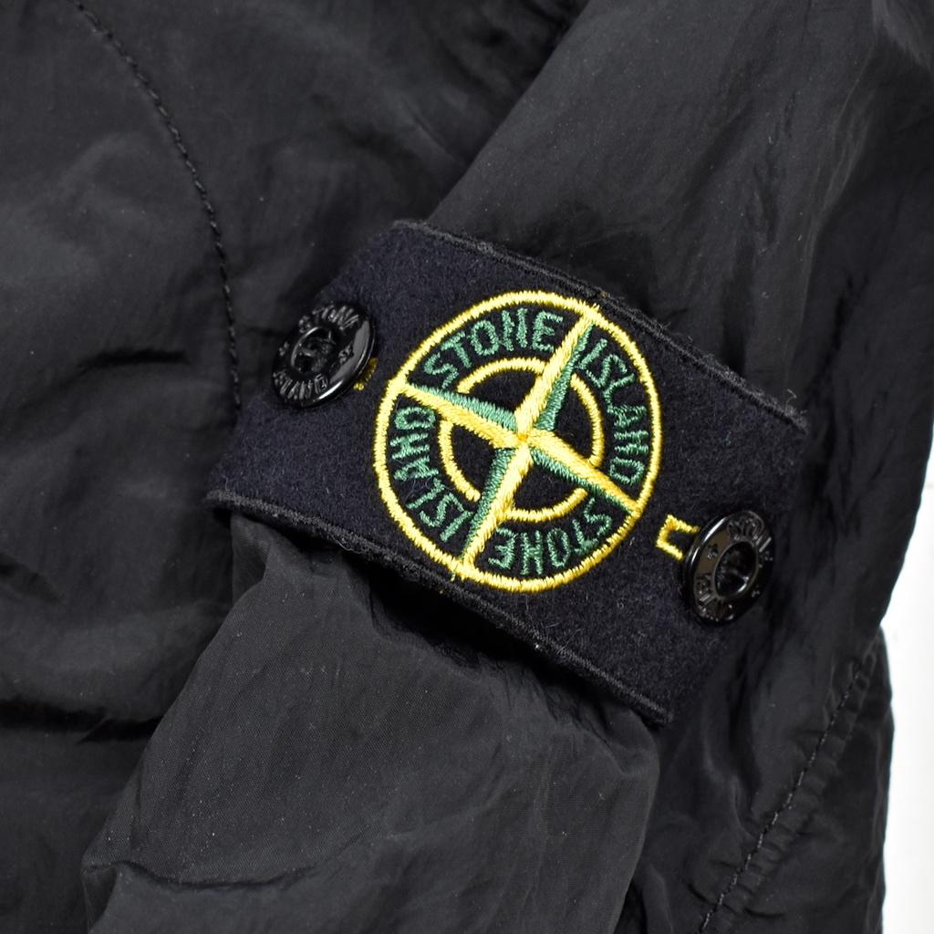 Stone Island Stone Island junior black reflective logo overshirt jacket age  6.