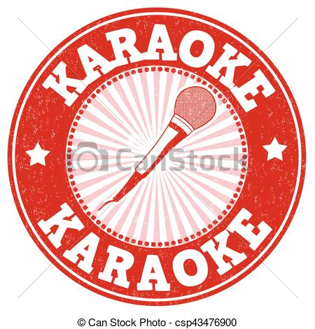 Vector Clipart of Karaoke sign or stamp.