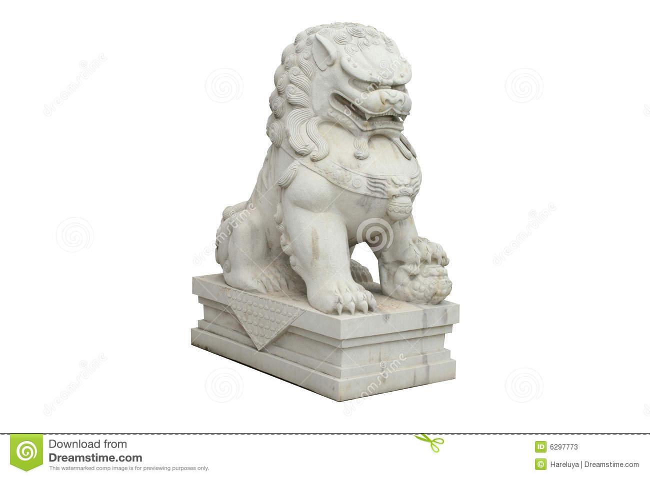Chinese Stone Lion Stock Photos.
