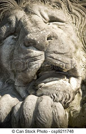 Pictures of Stone Lions Face.
