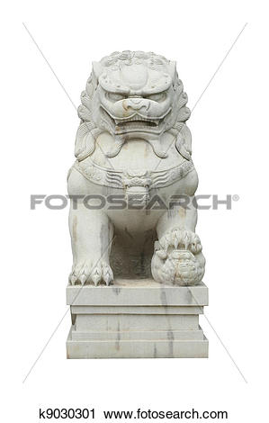 Stock Photography of Chinese stone lion k9030301.