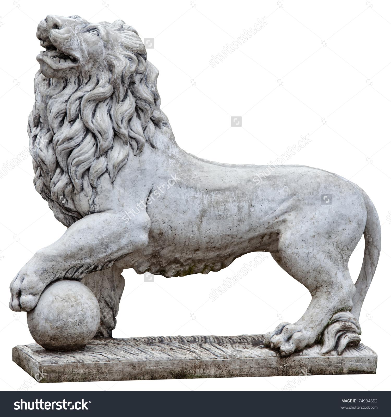 Isolated Stone Lion Topkapi Palace Istanbul Stock Photo 74934652.
