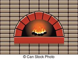 Vector Clip Art of Stone Oven Baker.