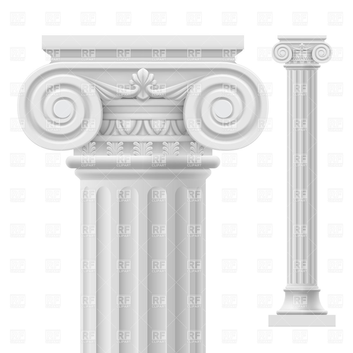 Ancient Roman temple with columns Vector Image #6993.