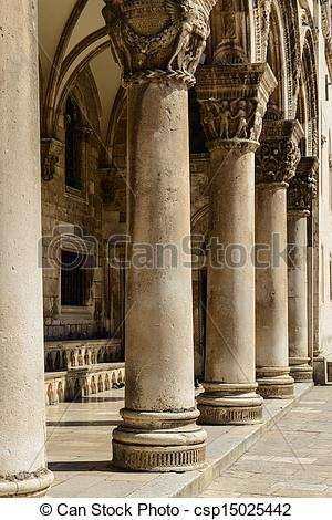 Stock Photo of Gothic Stone Pillars csp15025442.