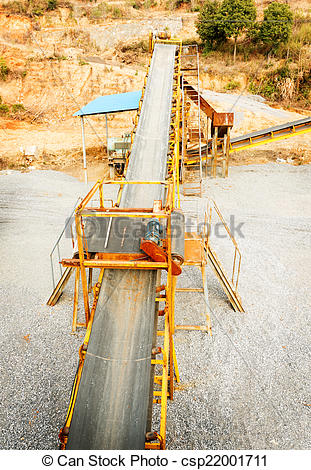 Stock Photography of Open pit mining and processing plant for.