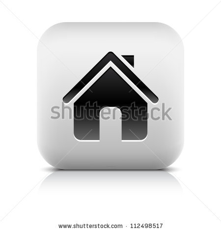 Stone Web 20 Button Home Symbol Stock Vector 112498517.