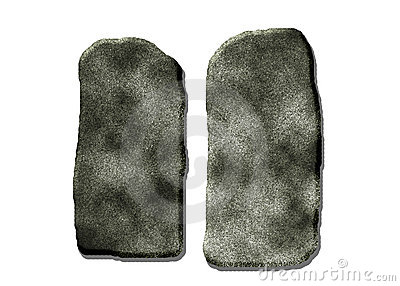 Stone Slabs Or Commandments Stock Images.
