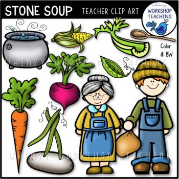 Stone Soup Clip Art.