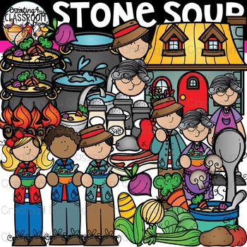 Stone Soup Clipart {Reading Clipart}.