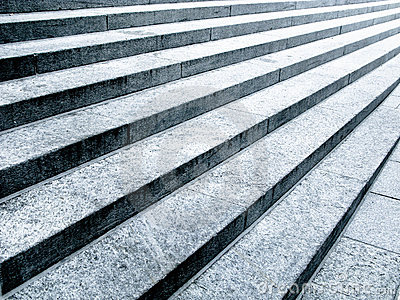 Black And White Stone Steps Royalty Free Stock Image.