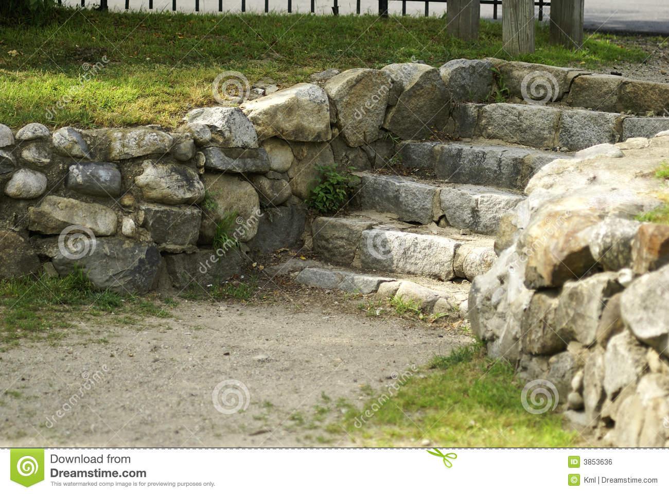 Stone Steps Royalty Free Stock Image.