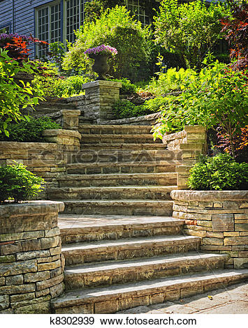 Stone stairs clipart #12