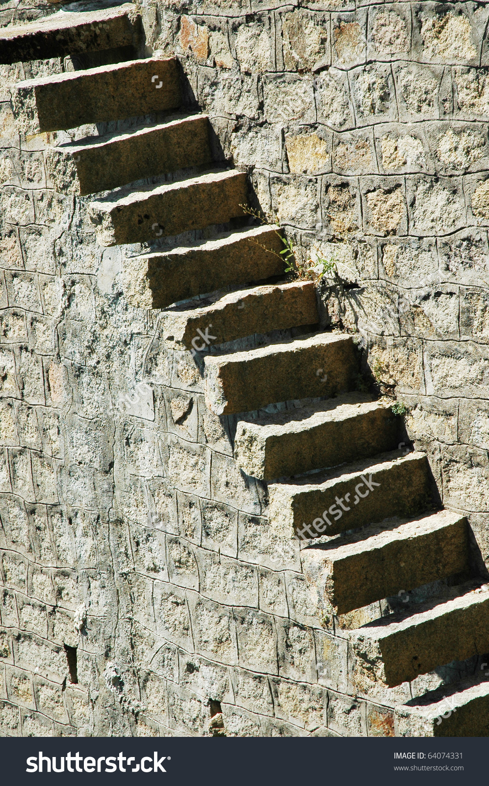 Old Stone Stairs Stock Photo 64074331.
