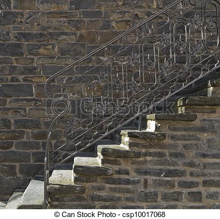 Stock Image of old stone staircase.