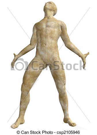 Stock Illustration of Male Stone Statue.